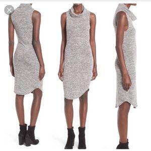 Leith cowl neck sleeveless sweater dress